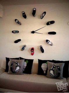 Unique clock ... imagining it with stiletto's