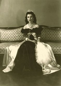 Queen Fawzia of Iran, daughter of the Egyptian king Fuad I, wife to the Iranian shah Mohammad Reza Pahlavi. during her marriage to the Shah of Iran (from 1939 to 1948)