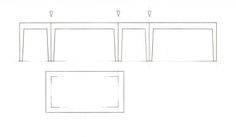 Template for making 1:25 scale folded table in stencil card