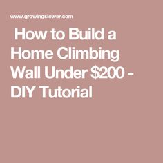 How to Build a Home Climbing Wall Under $200 - DIY Tutorial