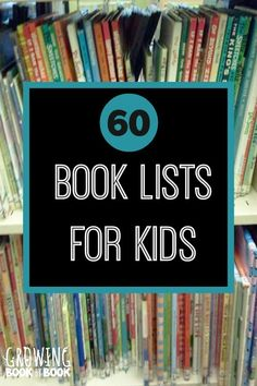 Over 60 book lists for kids on a wide variety of topics from construction vehicles, potty training, holidays, and more!  A little something for everyone.