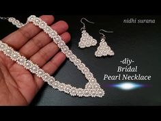 Hello, A lot of effort goes into the making of these videos. Diy Jewelry, Beaded Jewelry, Handmade Jewelry, Jewelry Making, Jewellery, Beading Projects, Beading Tutorials, Pearl Necklace, Beaded Necklace