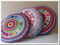 Circle of Flowers Cushions