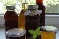 Jak na výrobu domácích bylinkových sirupů   recepty Healthy Drinks, Healthy Recipes, Hot Sauce Bottles, Herbalism, Spices, Remedies, Food And Drink, Smoothie, Herbs