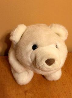 "Snuffles POLAR BEAR ~ GUND 13"" White Plush Stuffed Animal Toy #Gund"