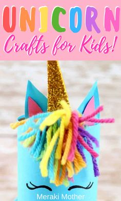 These toilet paper tube unicorn crafts are super fun and easy activities for kids at home! Craft Projects For Kids, Fun Activities For Kids, Crafts For Teens, Diy For Kids, 3 Kids, Kids Crafts, Preschool Activities, Art Projects, Craft Ideas