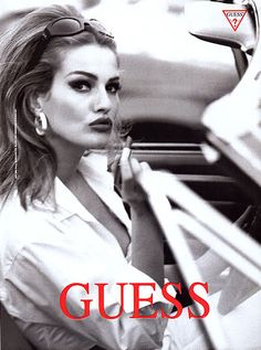 Karen Mulder for Guess (when Guess actually had tasteful clothing and ad campaigns)