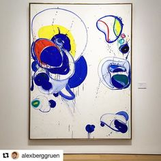 """#Repost @alexberggruen with @repostapp ・・・ A commanding #SamFrancis painting in our current """"#ZaoWouKi and #AbstractExpressionism"""" exhibition at #Christies -- this show explores the connections and conversations between the avant-garde abstract works of Chinese-French artist Zao Wou-ki, and several prime examples by the stars of the Western canon like #FranzKline, #JoanMitchell, and #Francis -- the present canvas, """"Why Then Opened II"""" from 1962-1963, boasts a playful array of amoebic forms…"""