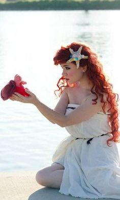 The Little Mermaid, Ariel, in human form.