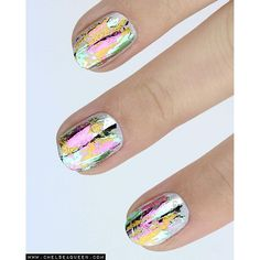 Metallic Foil Nails, #nailart#savedby#s.morley#this#wouldlook#betteronmylongnails#notbe
