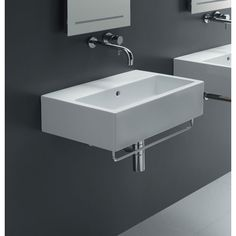 Ice 60 Wall Mounted Sink Without Faucet Hole Bissonnet Wall Mounted Bathroom Sinks Bath
