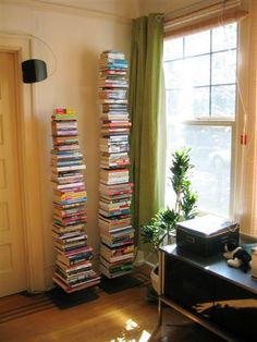 Love these invisible shelves.