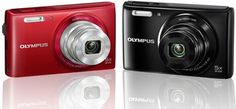 "Olympus VG-180 16MP Digital Camera w/ 5x Optical Zoom, 2.7"" LCD – Red or Black Finish!"