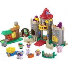 fisher price little people gray castle with robin hood set