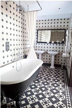 Black and White Tile design.