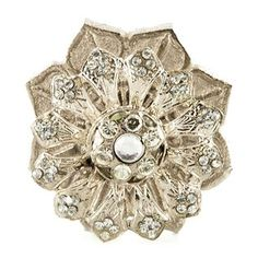 Silver & Clear Jeweled Flower Knob with Base Knobs And Knockers, Knobs And Pulls, Door Knobs, Door Handles, Art Craft Store, Craft Stores, Base Shop, Hanging Jewelry, Holly Leaf