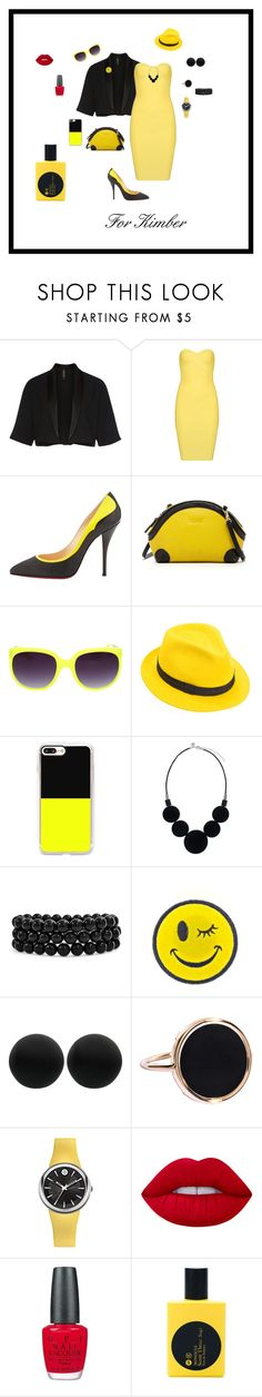 """""""For Kimber"""" by michelechambers ❤ liked on Polyvore featuring MARC CAIN, Christian Louboutin, SUSU, Mademoiselle Slassi, Casetify, Bling Jewelry, Ana Accessories, Thomas Sabo, Ginette NY and Philip Stein"""