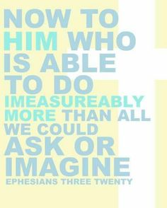 God more than able