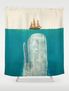 The Whale // Shower Curtain