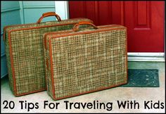 Traveling with kids?  Check out this list of 20 ideas to make traveling easier!
