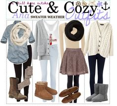 """""""Cute Outfits♥"""" by teenage-to-teenage-tips-xo ❤ liked on Polyvore"""