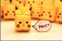 cute, heart, kawaii, origami, pikachu @Lai Stephanie Gilmore