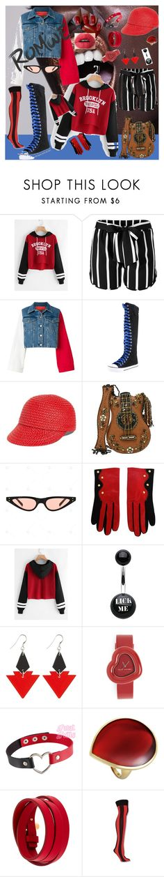 """""""Print Dip Hem Contrast Striped Sleeve Hoodie"""" by kuropirate ❤ liked on Polyvore featuring Venus, Tommy Hilfiger, Eric Javits, Mary Frances Accessories, Christian Lacroix, Toolally, Marc Jacobs, Ippolita and Tom Ford"""