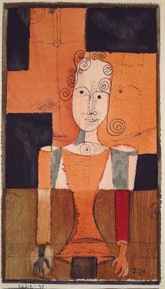 Paul Klee, Kleines Bildnis mit Schwarzen Vierecken, 1921 on ArtStack #paul-klee…