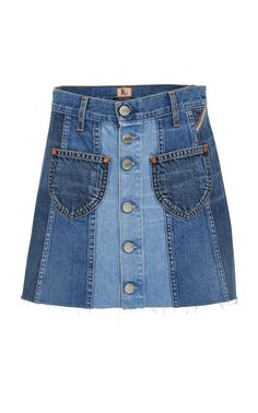 JEAN ATELIER .  jeanatelier  cloth   High Waisted Denim Skirt 84dc151598b9