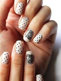 nail art - lace