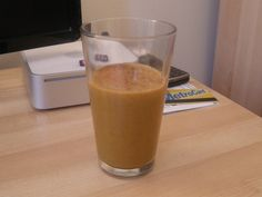 Vegan Pumpkin Pie Smoothie:  Pretty delicious, added a lot of extra pumpkin pie spice, some tofu to thicken it and some vanilla.  Will def make again.