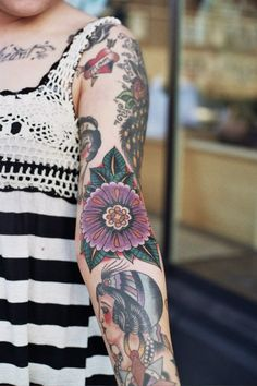 55 Arm Tattoos Girls #tattoo #girl #arm #sleeve