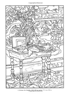 Color Your Own Monet Paintings ☆ Colouring Page