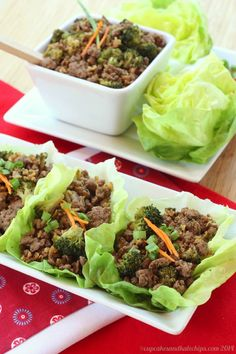 Asian Beef and Broccoli Lettuce Wraps #WeekdaySupper