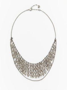 Swarovski Jewelry  Grey Crystal Bead Drop Necklace
