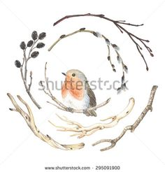Bird Watercolor Stock Vectors & Vector Clip Art | Shutterstock