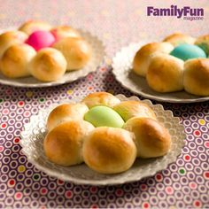 Bread Blossoms: Put a new twist on the traditional braided Easter loaf. This yeasty treat is blooming with rich, sweet flavor -- and the dyed eggs are edible, too.