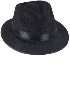 Black Pimp Gangsta Blues Brothers Costume Fedora Hat One Size (Fits Most Adults and Teens)