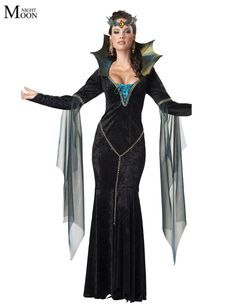 Witch Halloween Costumes Sexy For Women Witch Gown Cheaper Price Cosplay Witch For Girls Drop #costume #imported #New