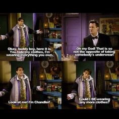 One of Friends' best and unforgettable scene!