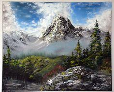 Tableau : La vallée brumeuse d'après Kevin Hill Artiste : Alain Fresne Style : Réalisme http://aruvart.com/tableaux/tableau-La-vallee-brumeuse-dapres-Kevin-Hill-3808