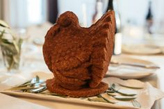 Sage cornbread turkey, set out on the table for Febgiving. Made from a Nordic Ware pan. Sarah McGee / Heavy Table