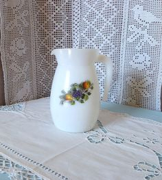 Arcopal+french+vintage+milk+glass+jug+with+the+door+Frenchidyll,+$12.00