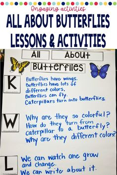 Looking for a preschool or kindergarten appropriate lesson plans and activities on butterflies? This product includes hands on activities, fun facts, and reading opportunities to investigate different types of butterflies and the life cycle of a butterfly! Hands On Activities, Kindergarten Activities, Preschool, Group Activities, Reading Lesson Plans, Reading Lessons, Writing Station, Kindergarten Age, Vocabulary Cards