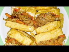 Fried Tofu Stuffed with Beef Tahu Isi, Cheesesteak, Tofu, Fries, Beef, Make It Yourself, Ethnic Recipes, Meat, Ox