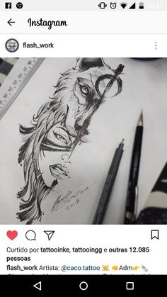 Piercing Ideas New Ideas Wolf Girl Tattoos, Wolf Tattoos For Women, Best Tattoos For Women, Leg Tattoos, Flower Tattoos, Body Art Tattoos, Tattoos For Guys, Sleeve Tattoos, Cool Tattoos
