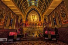 The Prayer Room - Pinned by Mak Khalaf Fine Art altararchitecturebuildingcathedralchurcheuropelightold by noelsalisid16