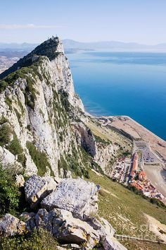 Gibraltar Rock and Mediterranean Sea - not too many places in the world I want to go, but this is one of them!