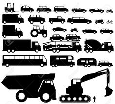 car and truck silhouette - Google Search