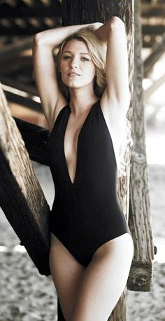 Love this black one piece bathing suit...if the 2 piece won't work this year :)